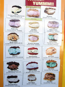 Chunk-n-Chip Cookies Truck Menu