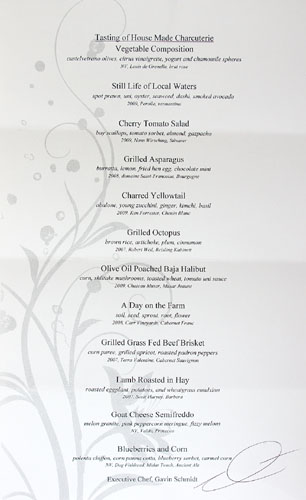 Blanca Tasting Menu