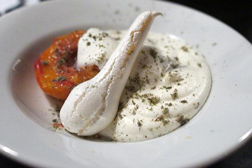 Peach Melba Vacherin, Lavender
