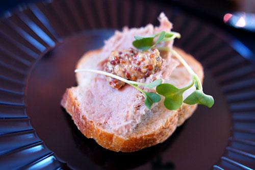 Pork Rillettes, Housemade Beer Mustard, Micro Dijon, Artisan Bread