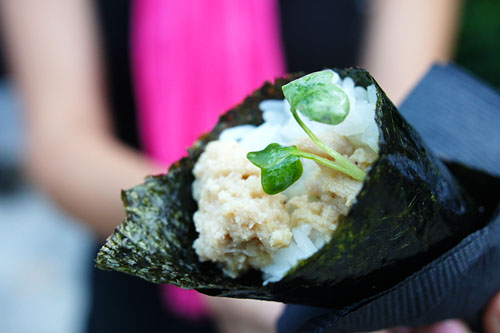 Marinated Albacore Hand Roll