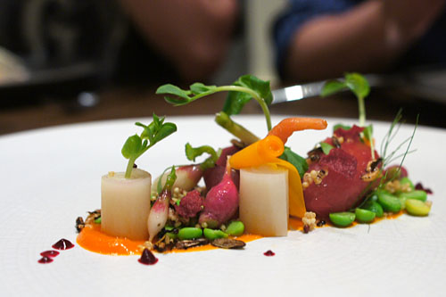 'Le Jardin' and its soil, pickled vegetables