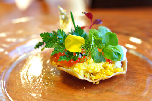 eggs: roe flatbread
