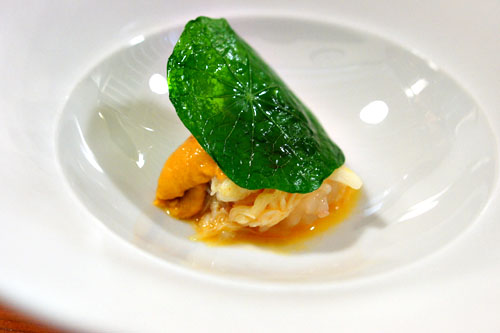 wild spot prawn: lobster-crab-uni