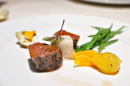 Grass Fed Beef, A La Niçoise, Tarragon Jus