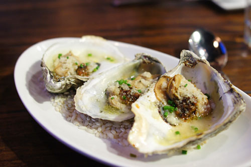 Wood Oven Roasted Oysters