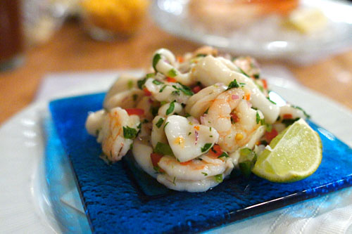 Seafood Ceviche w/ Lime & Jalapeo