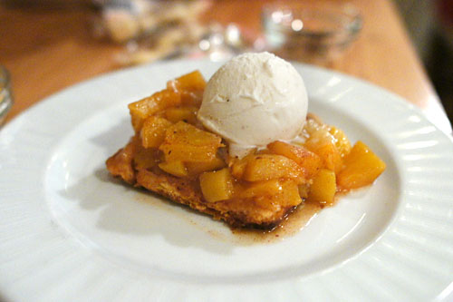 Local Peach Cobbler w/ Vanilla Ice Cream