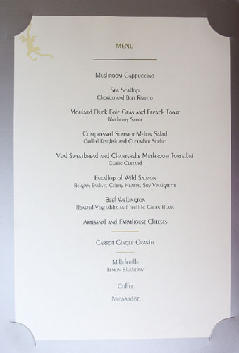 Gordon Ramsay Special Tasting Menu