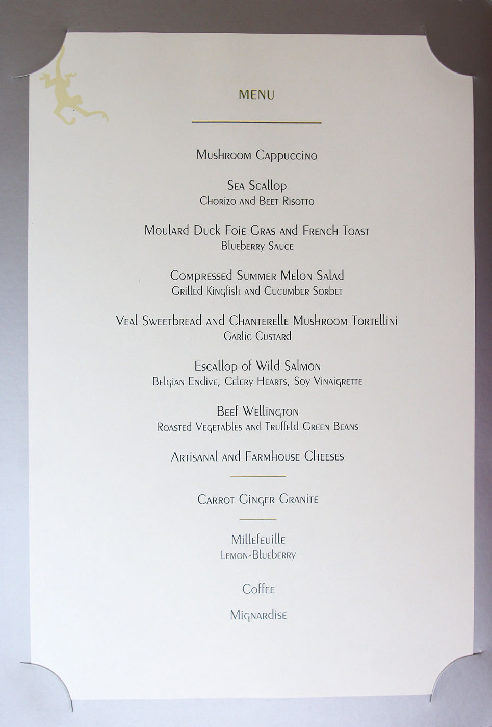 The Tasting Kitchen Menu Prices