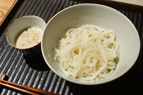 House-made Udon with Goma-dare