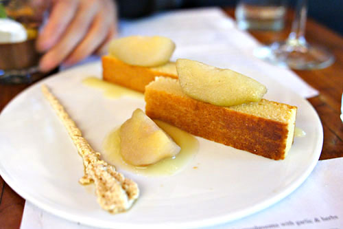 Pear Clafoutis with coffee cream
