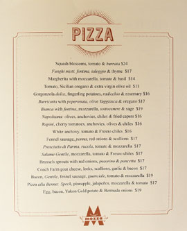 Pizzeria Mozza Newport Beach Menu
