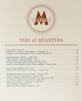 Pizzeria Mozza Newport Beach Wines by the Glass