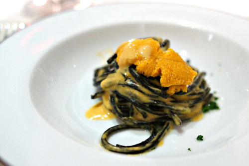 Squid Ink Pasta, Santa Barbara Sea Urchin Cream