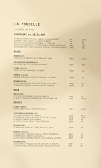 La Poubelle Wine List
