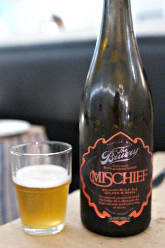 mischief golden hoppy ale, the bruery