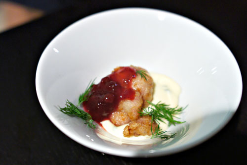 sweetbreads. lingonberry. potato pure. dill.