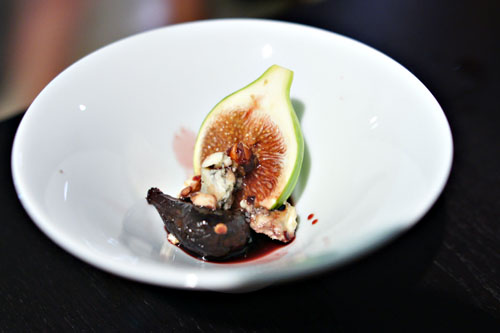 fresh fig. poached fig. hazelnut. roaring forties blue.