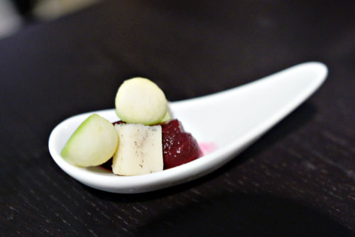 beet. morbier. green apple.