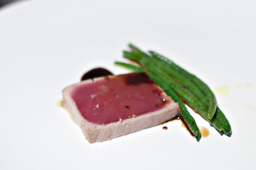 yellow fin tuna. haricot vert. lorenzo #5 olive oil. 12-year balsamic.