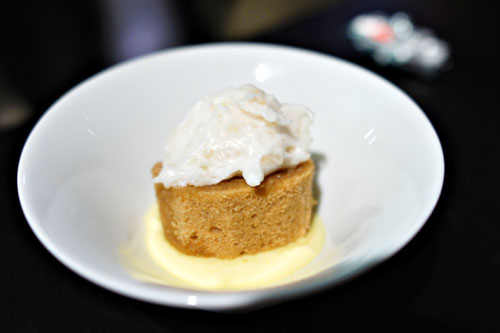 lime pudding. coconut sugar. pound cake. coconut-finger lime frosting.