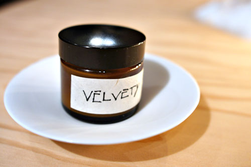 velvety-smoked pork belly velouté