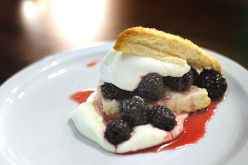 Buttermilk Biscuit with Blackberry Compote and Crme Frache