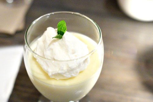 Kaffir lime custard