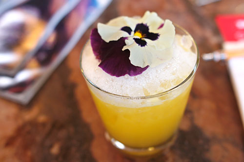 Micro-Climate Mezcal, St. Vincent Orgeat, Fresh Lemon, Agave Nectar, Passion Fruit, Lavender Air