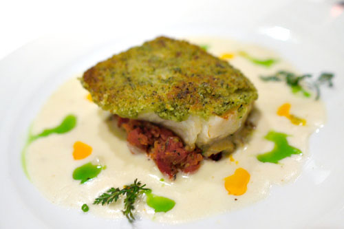 Thyme-Crusted Sea Bass