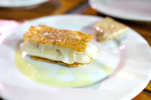 Creamy Saint-Nectaire, Salted Praline Butter