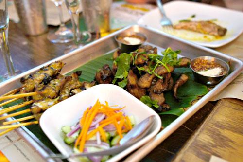 Moo Ping / Pork Satay + Pork Toro