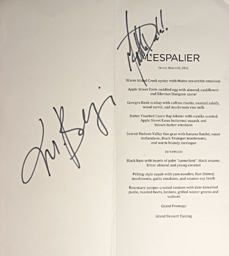 L'Espalier Chef's Tasting Journey Menu