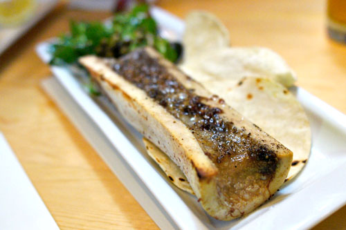 Roasted Marrow Bone, Breakfast Radishes