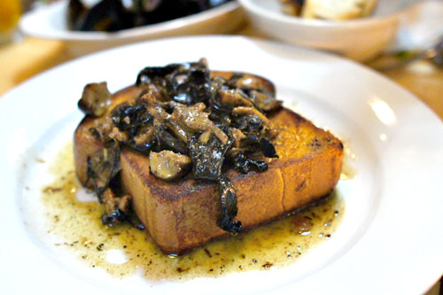 Wild Mushrooms on a Brioche Box