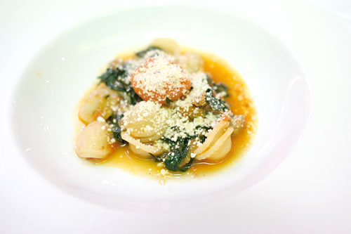 Orecchiette, fennel sausage, cavolo nero, chile, heirloom cherry tomatoes, pecorino romano