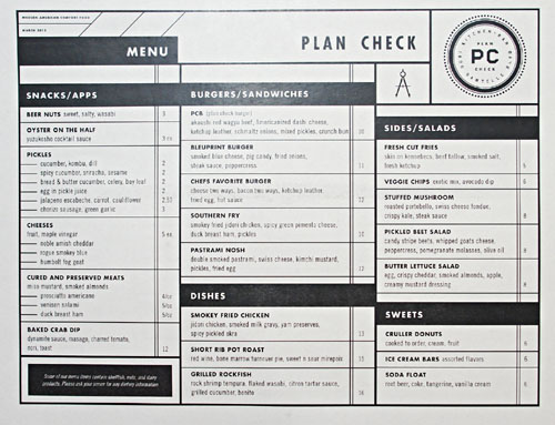 Plan Check Menu