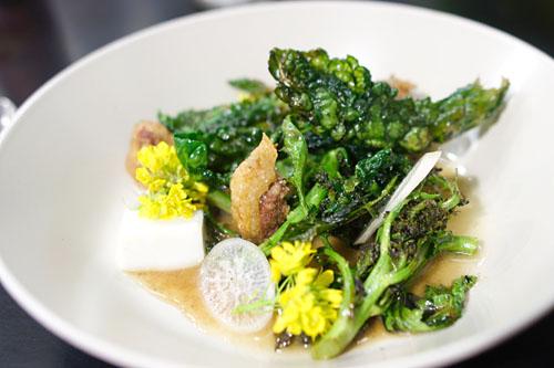 Brassica, black garlic, duck consomme, daikon