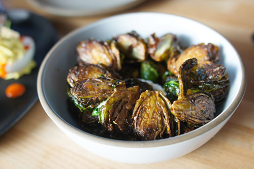 Fried Brussels Sprouts [$8.00] | smoked goat cheese. apple cider glaze ...