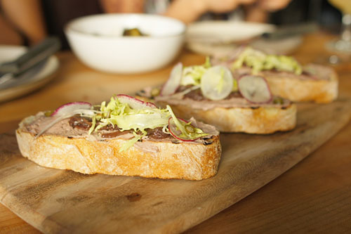 Chicken Liver Mousse on Toast