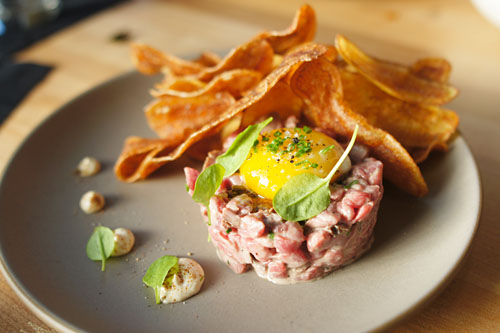 Flash-Grilled Steak Tartare