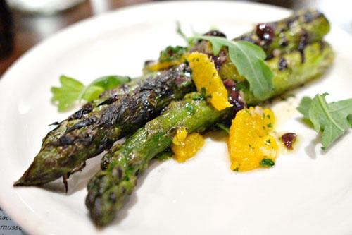 Grilled Delta asparagus