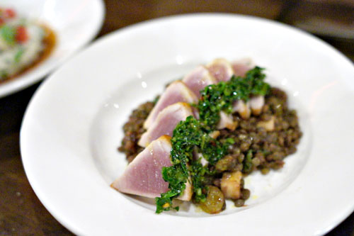 seared fijian albacore