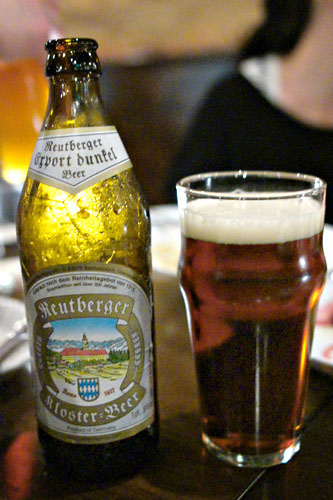 reutberger kloster dunkel beer germany