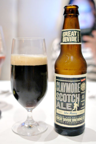 scotch ale, great divide brewing co, 'claymore'
