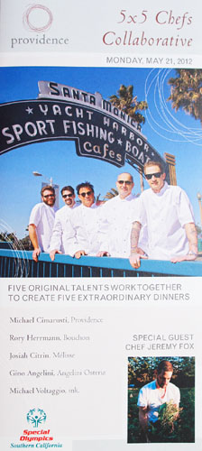 5 x 5 Chefs Collaborative