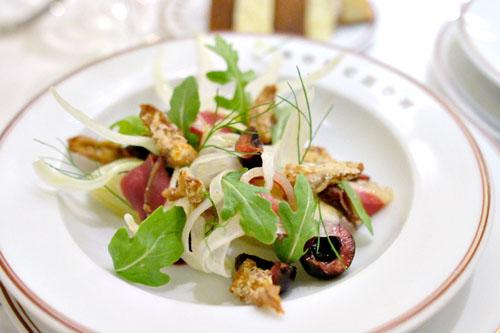 Salade de Fenouil et Fruits de Saison au Canard