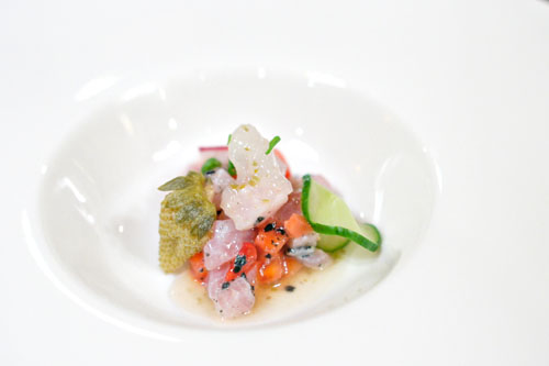 Hamachi and Strawberry Tartar