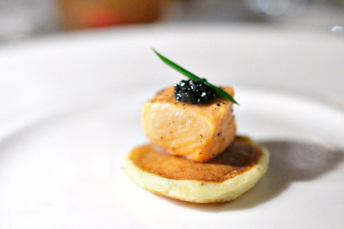 Poached Salmon and Caviar